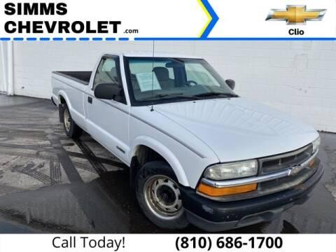 2001 Chevrolet S-10 for sale at Aaron Adams @ Simms Chevrolet in Clio MI