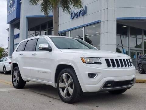 2016 Jeep Grand Cherokee for sale at DORAL HYUNDAI in Doral FL