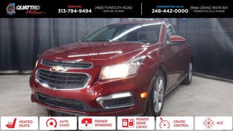 2015 Chevrolet Cruze for sale at Quattro Motors 2 - 1 in Redford MI