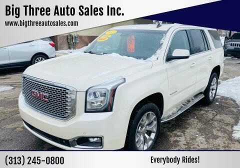 2015 GMC Yukon for sale at Big Three Auto Sales Inc. in Detroit MI