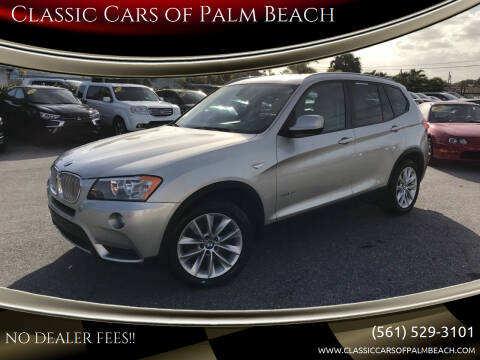 2013 BMW X3 for sale at Classic Cars of Palm Beach in Jupiter FL