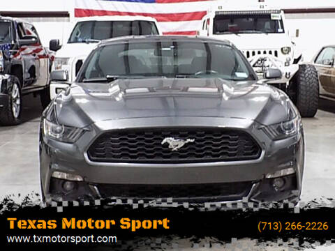 2015 Ford Mustang for sale at Texas Motor Sport in Houston TX