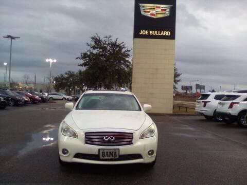 2012 Infiniti M37 for sale at JOE BULLARD USED CARS in Mobile AL