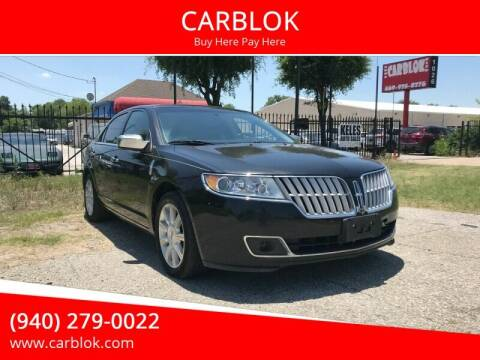 2012 Lincoln MKZ for sale at CARBLOK in Lewisville TX