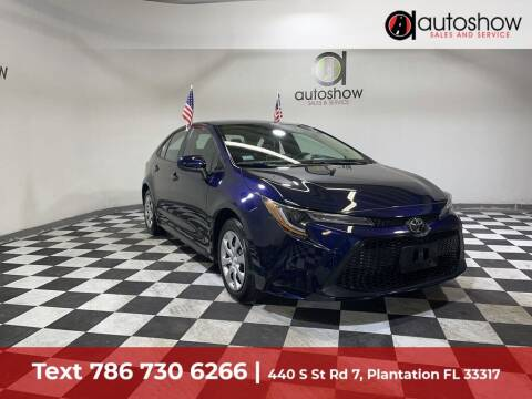 2021 Toyota Corolla for sale at AUTOSHOW SALES & SERVICE in Plantation FL