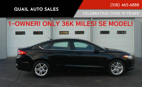 2018 Ford Fusion for sale at Quail Auto Sales in Albany NY