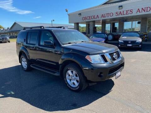 2008 Nissan Pathfinder for sale at Osceola Auto Sales and Service in Osceola WI