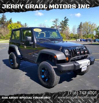 2011 Jeep Wrangler for sale at JERRY GRADL MOTORS INC in North Tonawanda NY