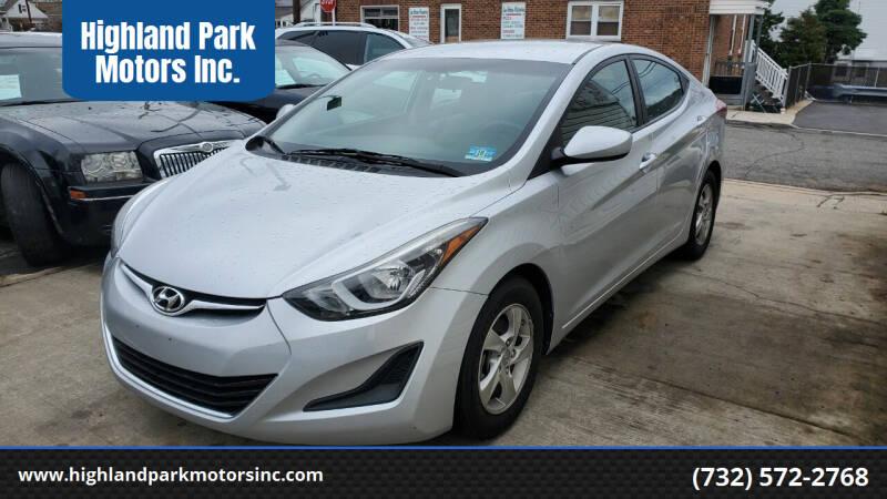 2014 Hyundai Elantra for sale at Highland Park Motors Inc. in Highland Park NJ