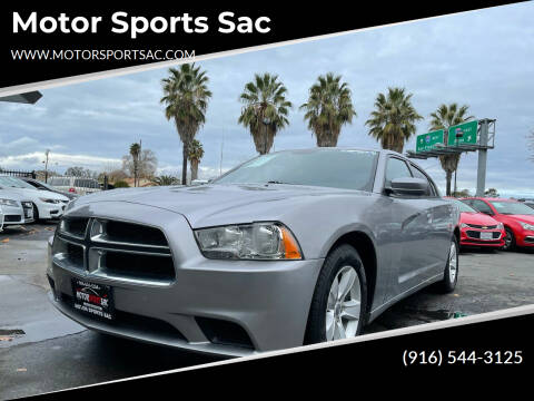 2013 Dodge Charger for sale at Motor Sports Sac in Sacramento CA