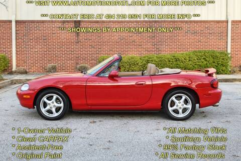 1999 Mazda MX-5 Miata for sale at Automotion Of Atlanta in Conyers GA
