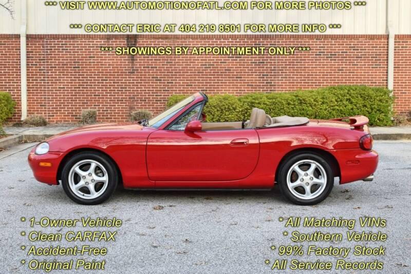 1999 Mazda MX-5 Miata for sale at Automotion Of Atlanta in Conyers GA