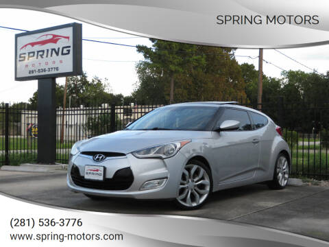 2012 Hyundai Veloster for sale at Spring Motors in Spring TX