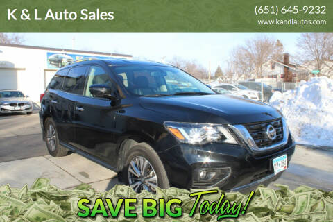 2018 Nissan Pathfinder for sale at K & L Auto Sales in Saint Paul MN