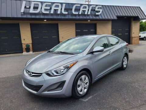 2016 Hyundai Elantra for sale at I-Deal Cars in Harrisburg PA