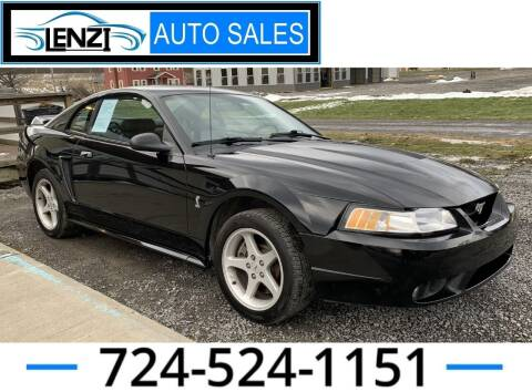 1999 Ford Mustang SVT Cobra for sale at LENZI AUTO SALES in Sarver PA