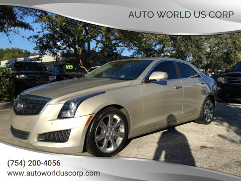 2013 Cadillac ATS for sale at Auto World US Corp in Plantation FL
