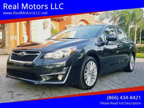 2016 Subaru Impreza for sale at Real Motors LLC in Clearwater FL