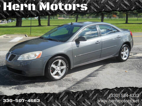 2008 Pontiac G6 for sale at Hern Motors - 111 Hubbard Youngstown Rd Lot in Hubbard OH