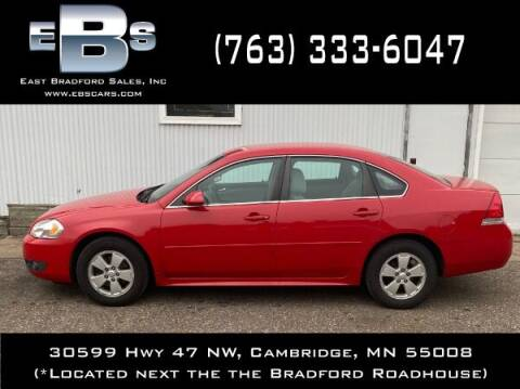 2010 Chevrolet Impala for sale at East Bradford Sales, Inc in Cambridge MN