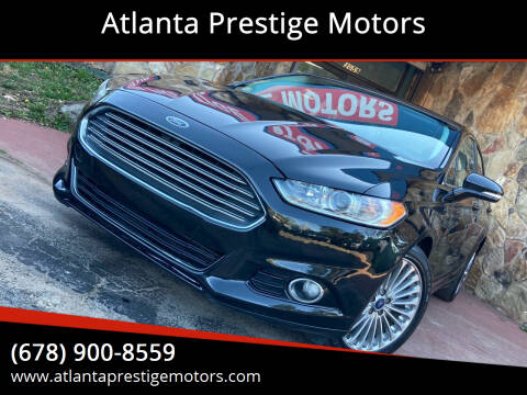 2014 Ford Fusion for sale at Atlanta Prestige Motors in Decatur GA