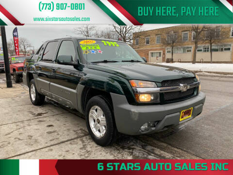 2002 Chevrolet Avalanche for sale at 6 STARS AUTO SALES INC in Chicago IL