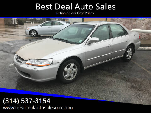 1998 Honda Accord for sale at Best Deal Auto Sales in Saint Charles MO