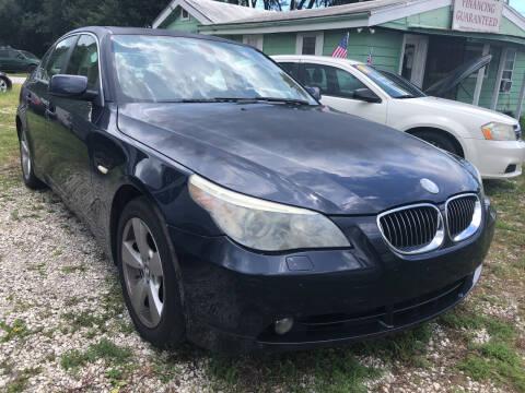 2007 BMW 5 Series for sale at Castagna Auto Sales LLC in Saint Augustine FL