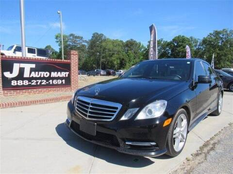 2013 Mercedes-Benz E-Class for sale at J T Auto Group in Sanford NC