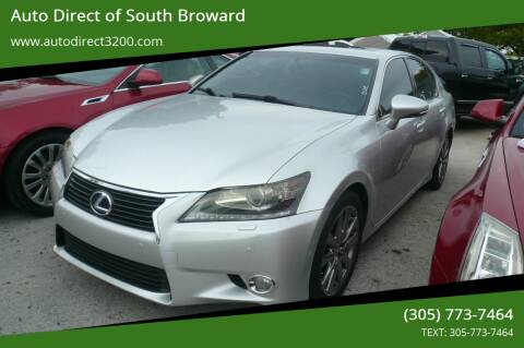 2013 Lexus GS 450h for sale at Auto Direct of South Broward in Miramar FL