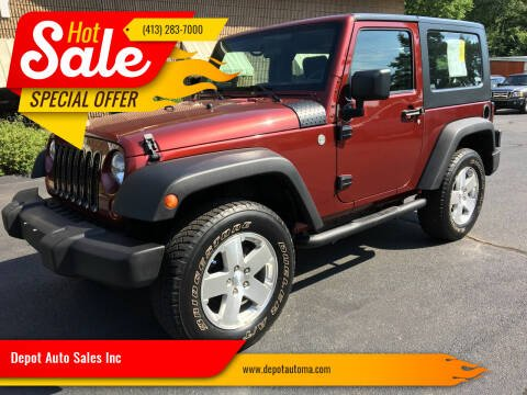 2007 Jeep Wrangler for sale at Depot Auto Sales Inc in Palmer MA