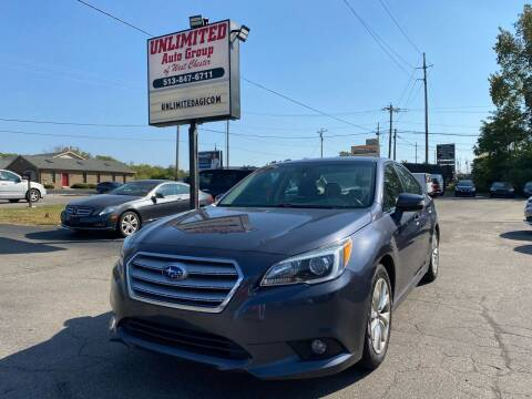 2017 Subaru Legacy for sale at Unlimited Auto Group in West Chester OH