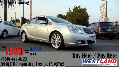 2016 Buick Verano for sale at Westland Auto Sales in Fresno CA