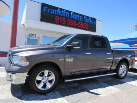 2014 RAM Ram Pickup 1500 for sale at Franklin Auto Sales in El Paso TX
