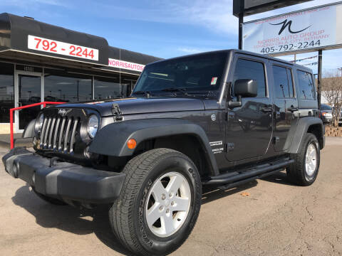 2017 Jeep Wrangler Unlimited for sale at NORRIS AUTO SALES in Oklahoma City OK