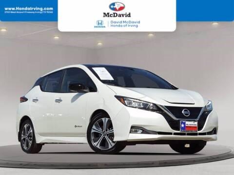 2018 Nissan LEAF for sale at DAVID McDAVID HONDA OF IRVING in Irving TX