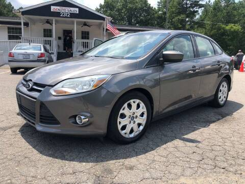 2012 Ford Focus for sale at CVC AUTO SALES in Durham NC