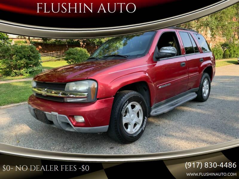 2003 Chevrolet TrailBlazer for sale at FLUSHIN AUTO in Flushing NY