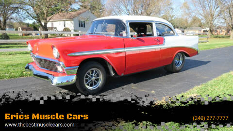 1956 Chevrolet Bel Air for sale at Erics Muscle Cars in Clarksburg MD