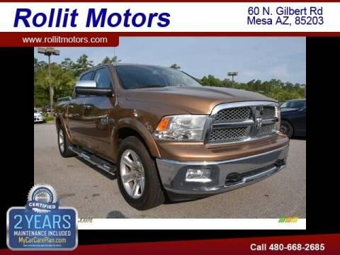 2012 RAM Ram Pickup 1500 for sale at Rollit Motors in Mesa AZ