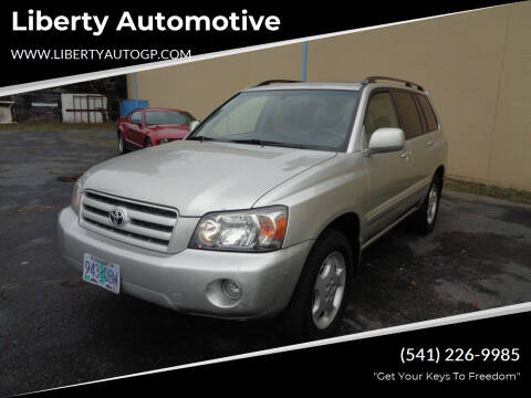 2007 Toyota Highlander for sale at Liberty Automotive in Grants Pass OR