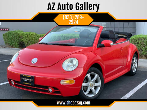 2004 Volkswagen New Beetle Convertible for sale at AZ Auto Gallery in Mesa AZ