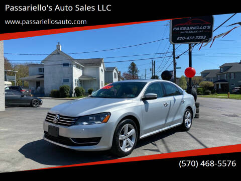 2012 Volkswagen Passat for sale at Passariello's Auto Sales LLC in Old Forge PA