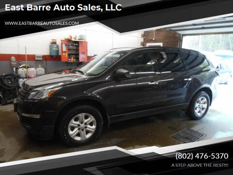 2016 Chevrolet Traverse for sale at East Barre Auto Sales, LLC in East Barre VT