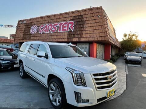 2016 Cadillac Escalade ESV for sale at CARSTER in Huntington Beach CA
