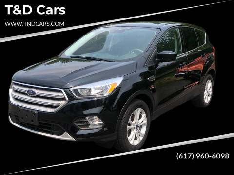 2017 Ford Escape for sale at T&D Cars in Holbrook MA