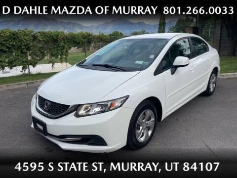 2013 Honda Civic for sale at D DAHLE MAZDA OF MURRAY in Salt Lake City UT