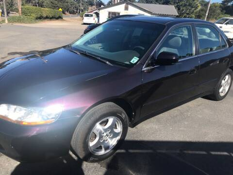 1999 Honda Accord for sale at HARE CREEK AUTOMOTIVE in Fort Bragg CA