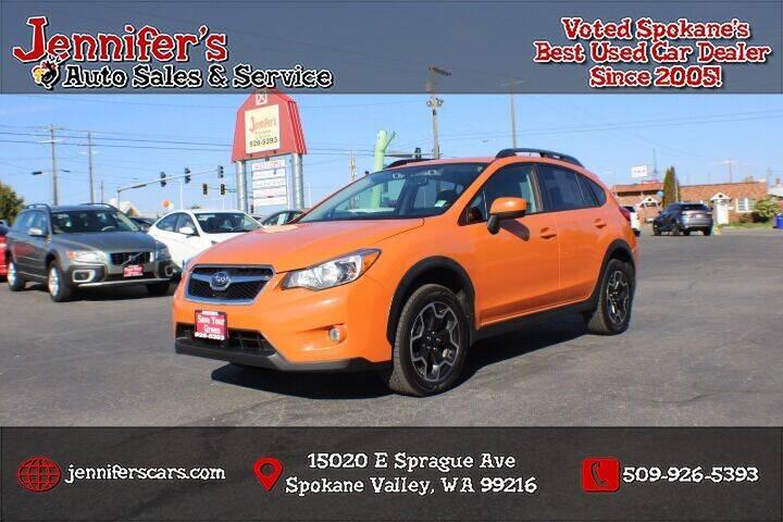 2015 Subaru XV Crosstrek for sale at Jennifer's Auto Sales in Spokane Valley WA