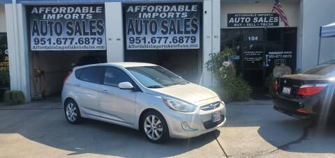 2012 Hyundai Accent for sale at Affordable Imports Auto Sales in Murrieta CA